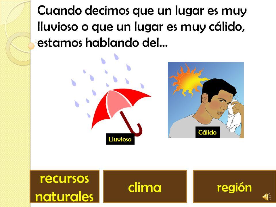recursos naturales clima