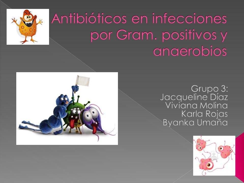 Antibióticos en infecciones por Gram. positivos y anaerobios