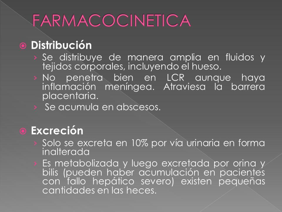 FARMACOCINETICA Distribución Excreción