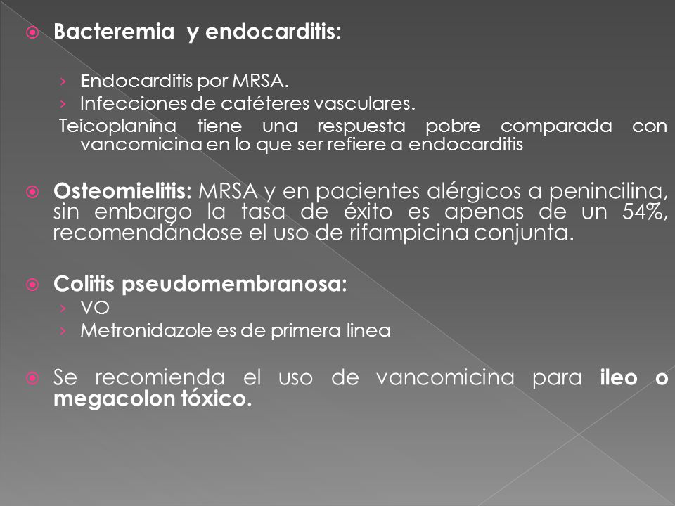 Bacteremia y endocarditis: