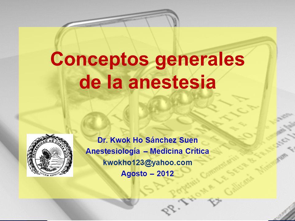 Anestesiología – Medicina Crítica