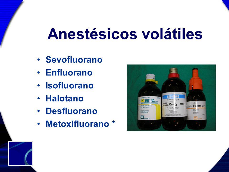 Anestésicos volátiles