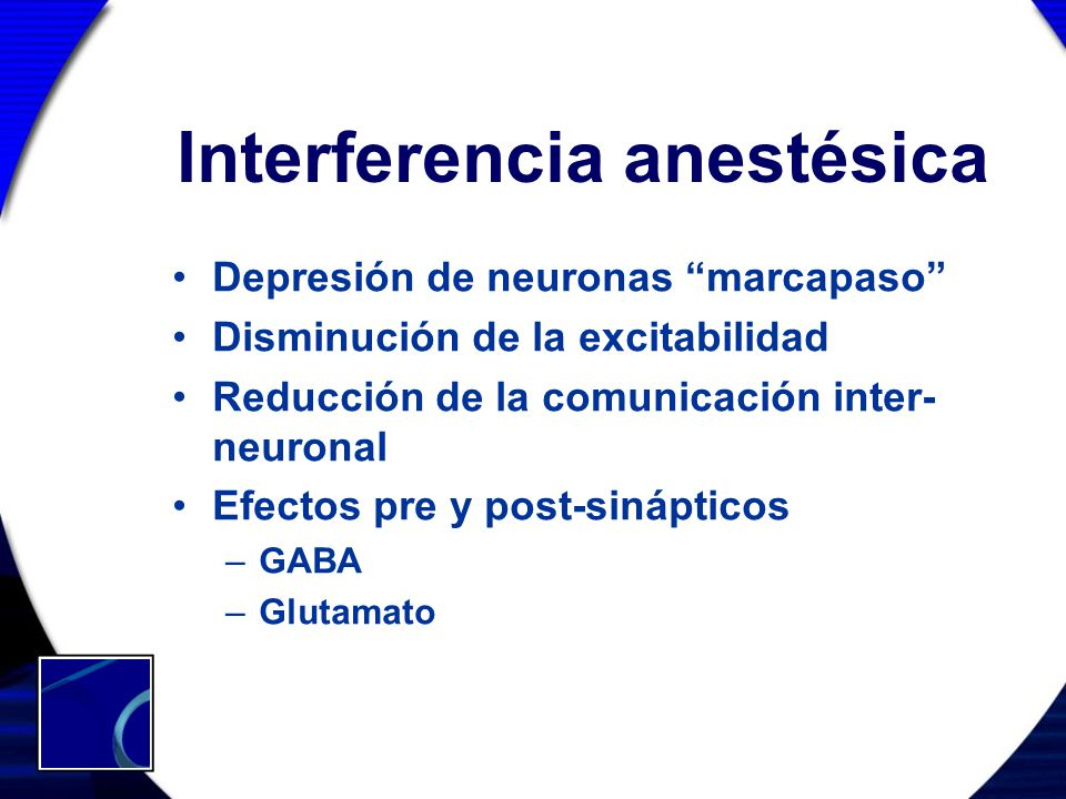 Interferencia anestésica