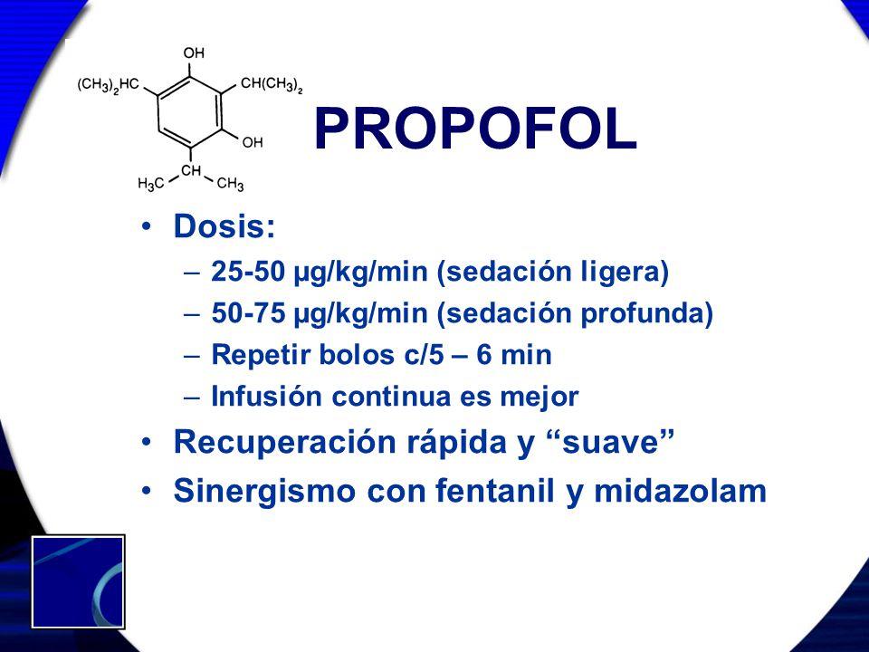 PROPOFOL Dosis: Recuperación rápida y suave