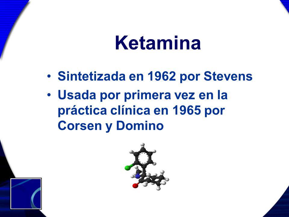 Ketamina Sintetizada en 1962 por Stevens