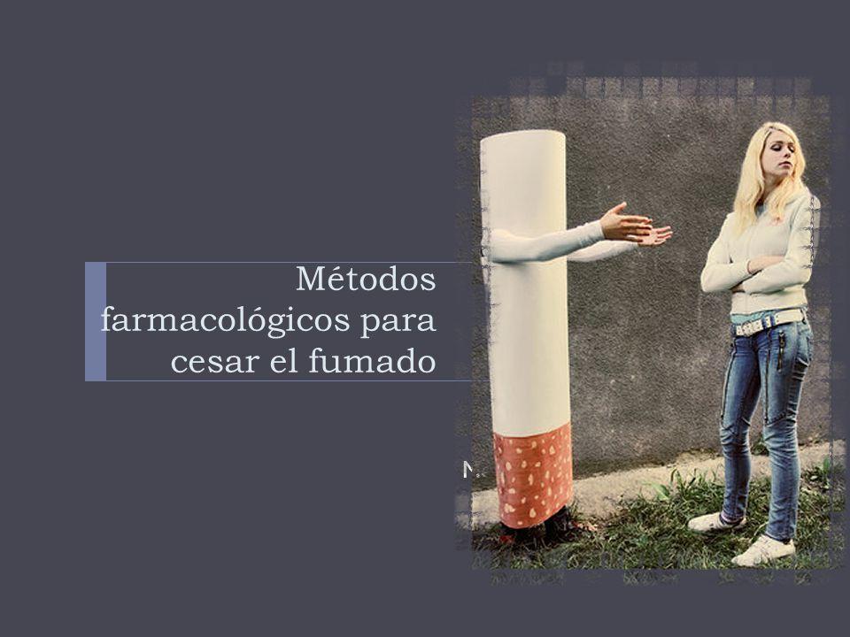 Métodos farmacológicos para cesar el fumado