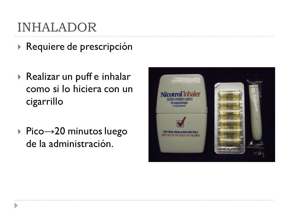 INHALADOR Requiere de prescripción