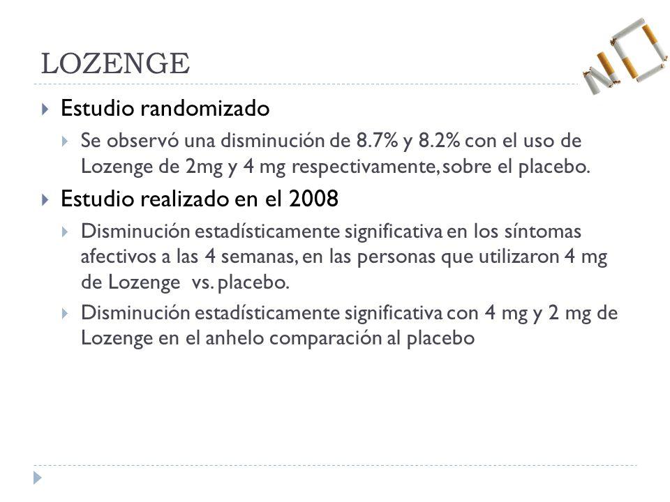 LOZENGE Estudio randomizado Estudio realizado en el 2008