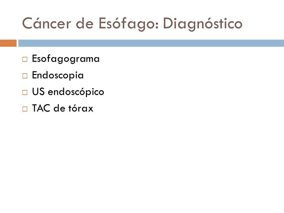 Cáncer de Esófago: Diagnóstico
