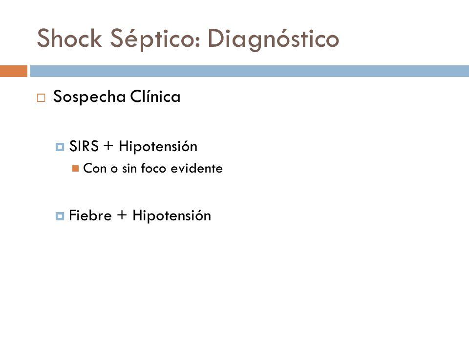 Shock Séptico: Diagnóstico