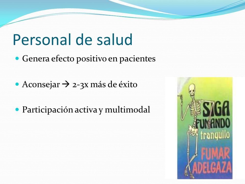 Personal de salud Genera efecto positivo en pacientes