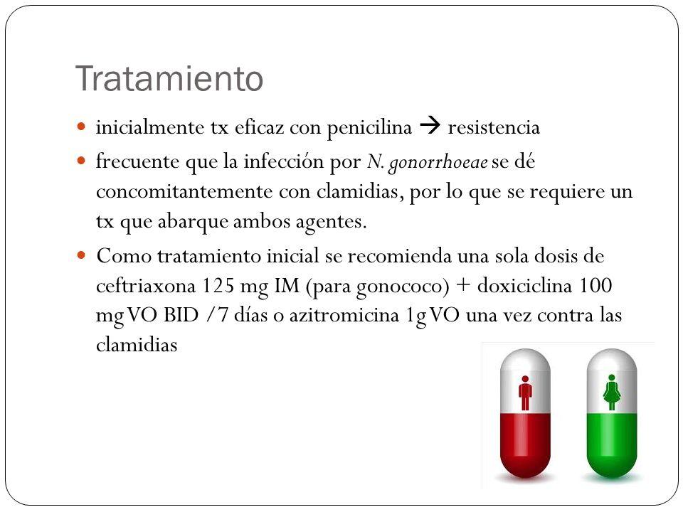 Tratamiento inicialmente tx eficaz con penicilina  resistencia