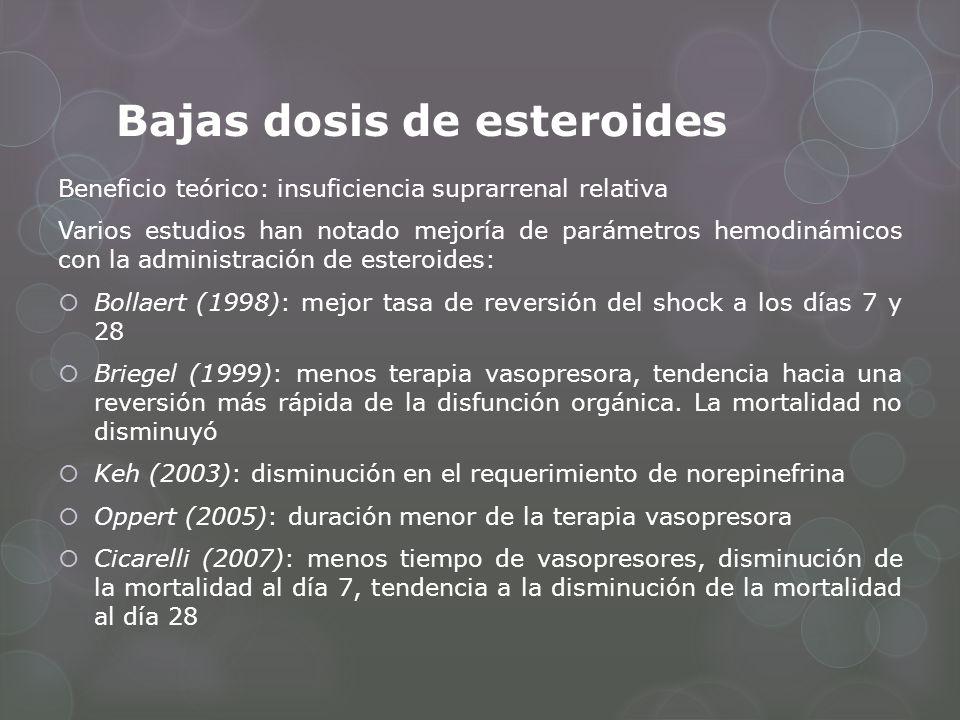 Bajas dosis de esteroides