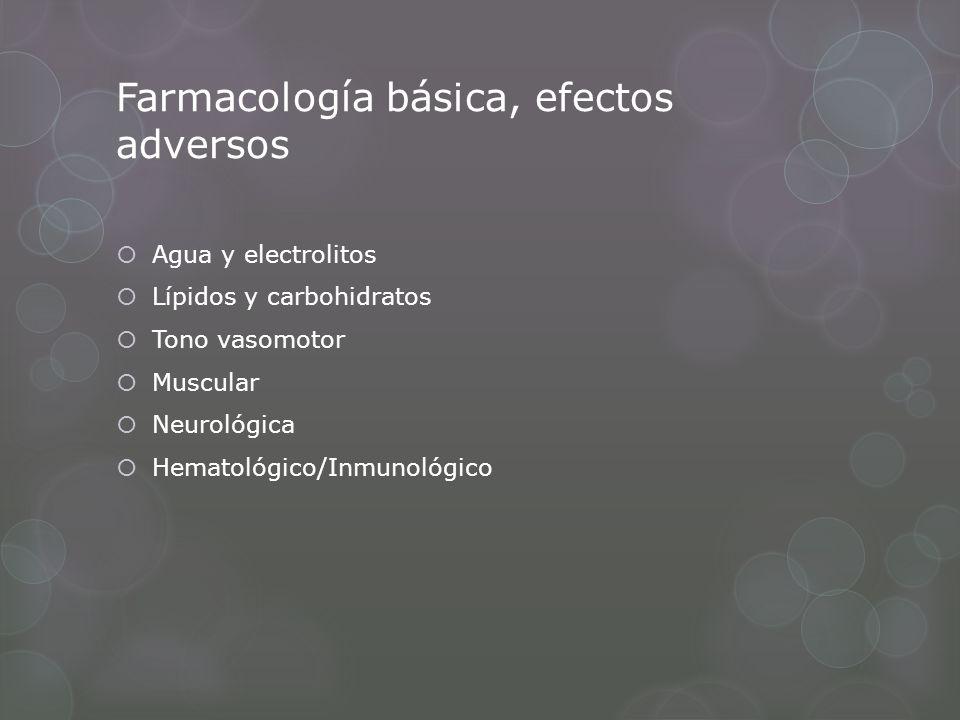 Farmacología básica, efectos adversos