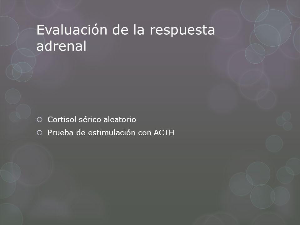 Evaluación de la respuesta adrenal