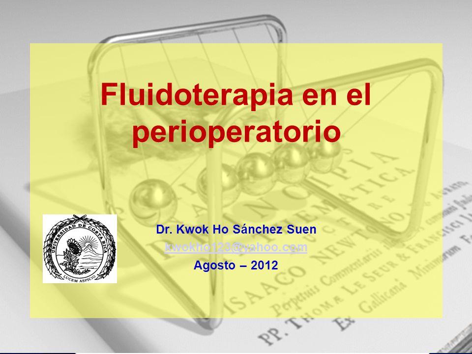 Fluidoterapia en el perioperatorio