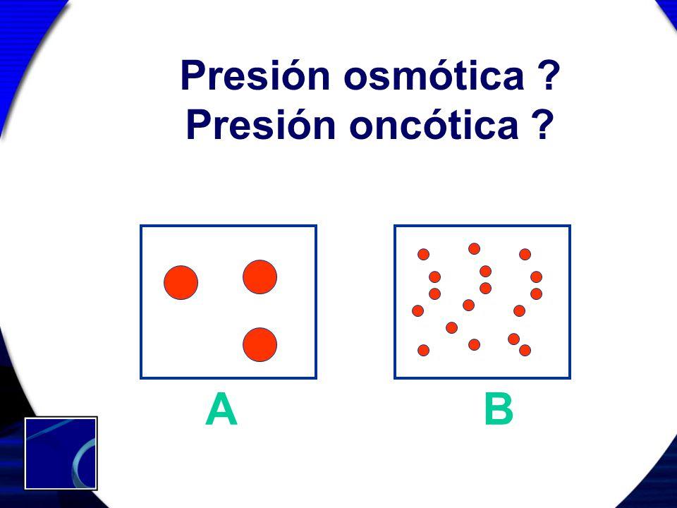 Presión osmótica Presión oncótica