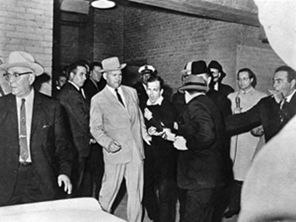 Oswald is shot by Jack Ruby