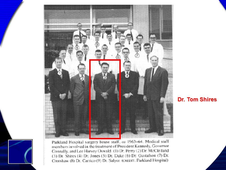 Dr. Tom Shires THREE PATIENTS at PARKLAND