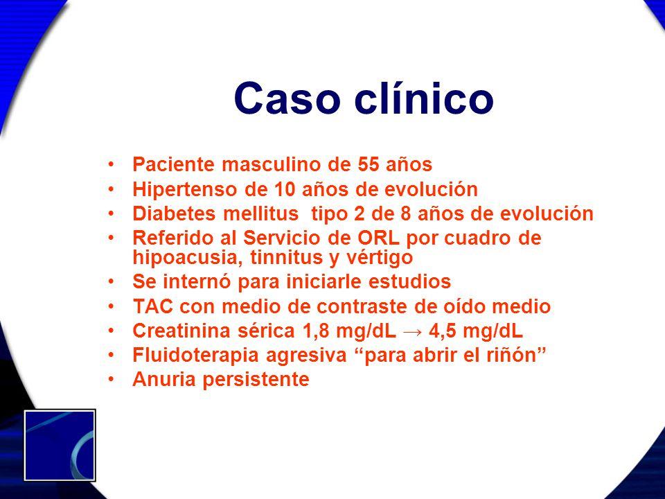 Caso clínico Paciente masculino de 55 años