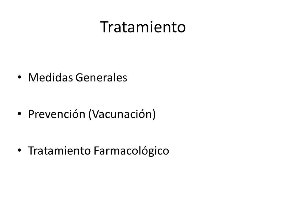 Tratamiento Medidas Generales Prevención (Vacunación)