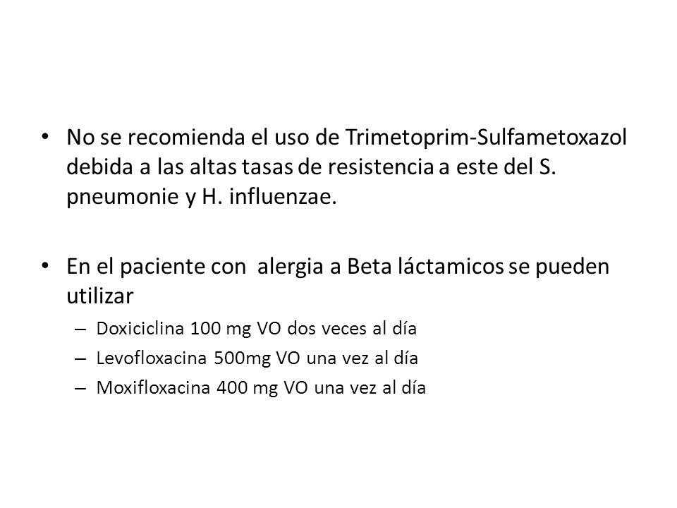 En el paciente con alergia a Beta láctamicos se pueden utilizar