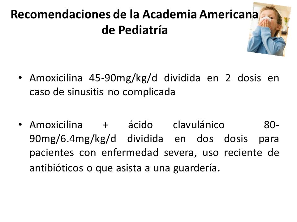 Recomendaciones de la Academia Americana de Pediatría