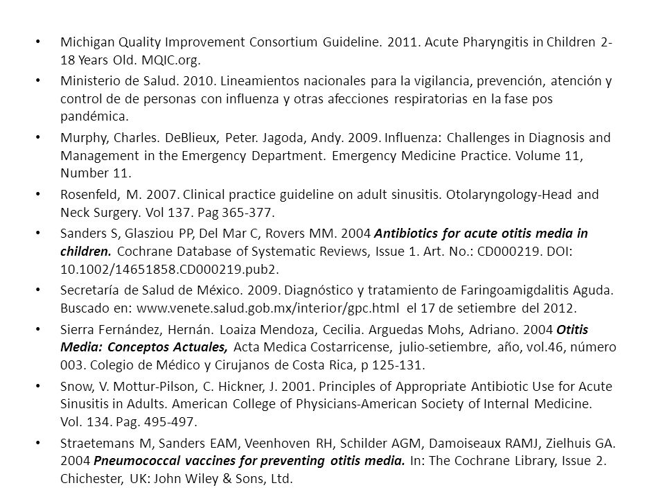 Michigan Quality Improvement Consortium Guideline. 2011