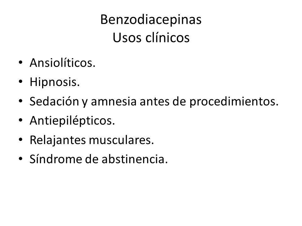 Benzodiacepinas Usos clínicos