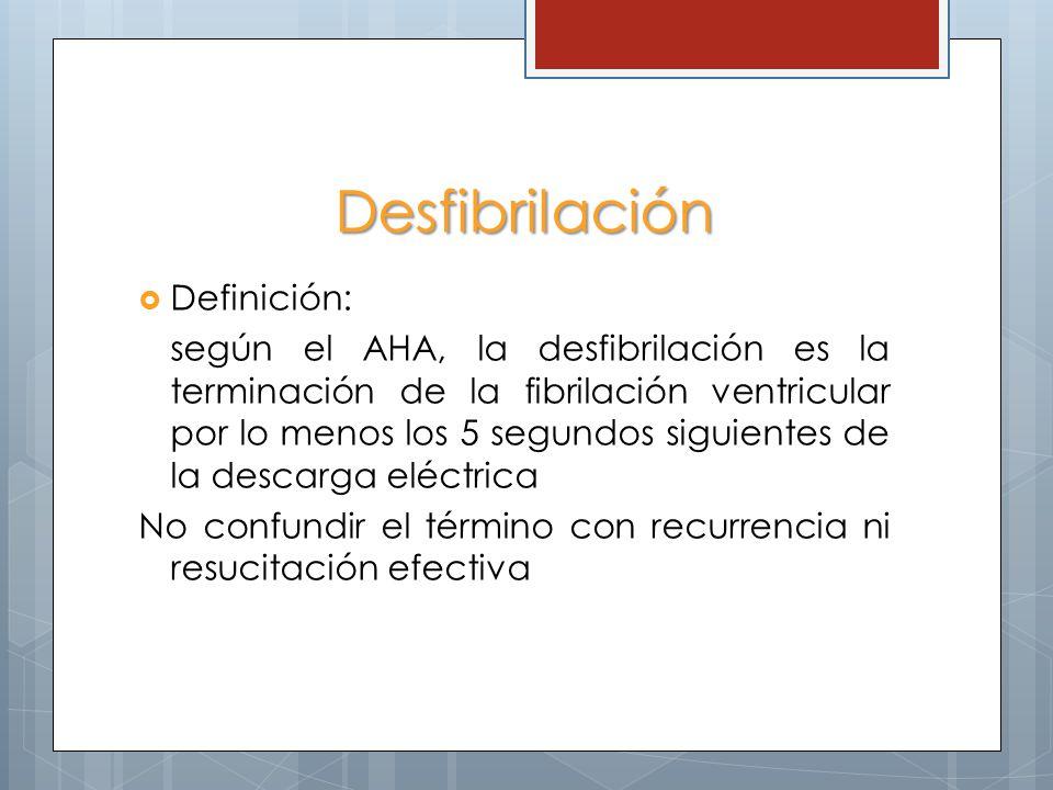 Desfibrilación Definición: