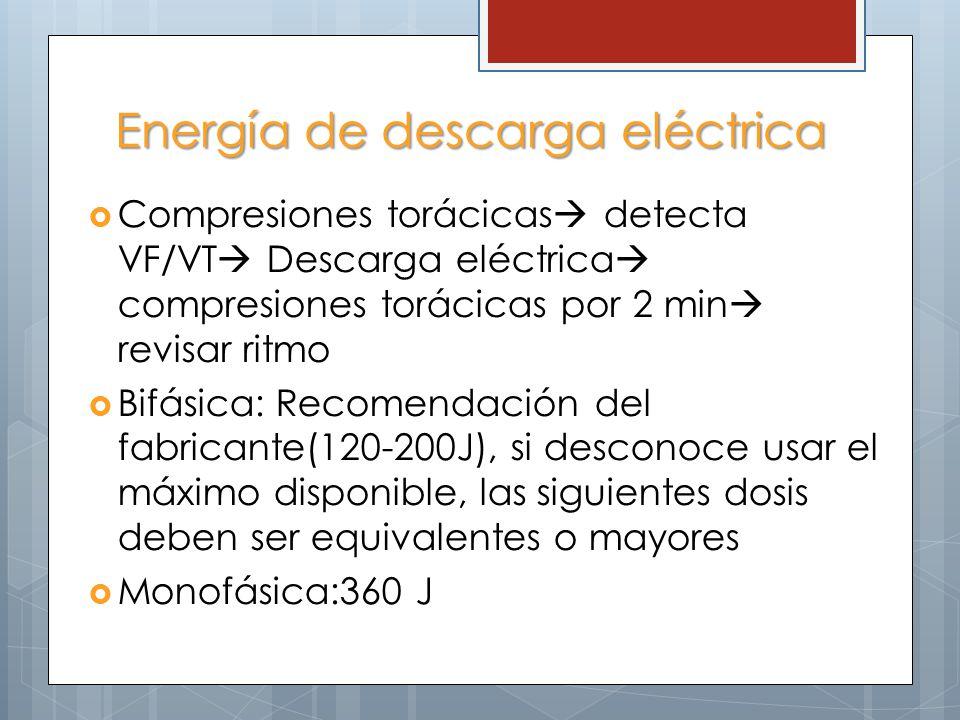 Energía de descarga eléctrica
