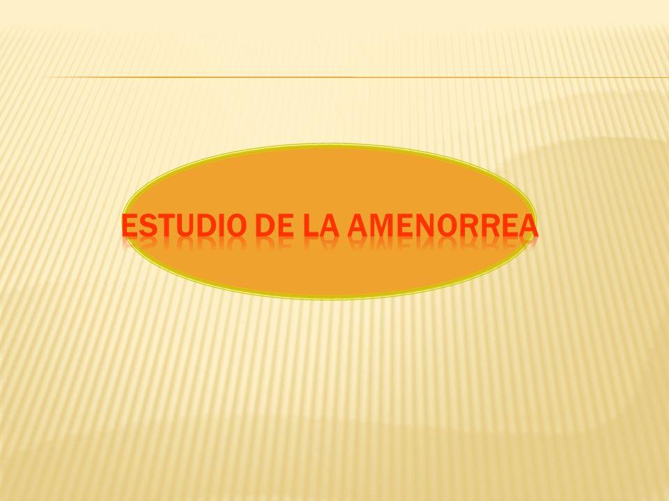 Estudio de la Amenorrea