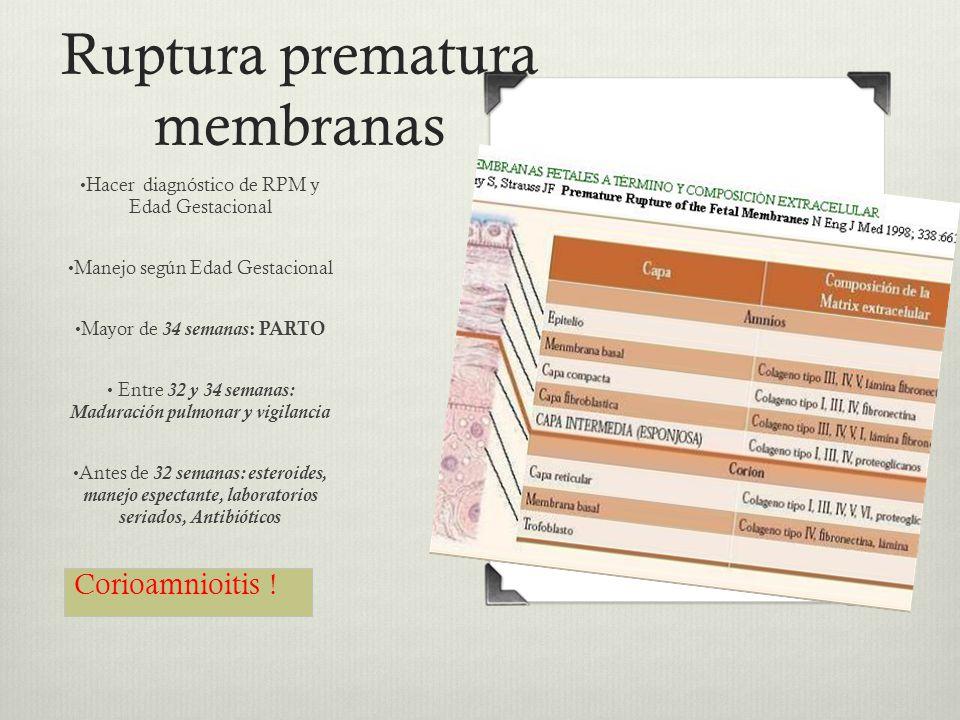 Ruptura prematura membranas