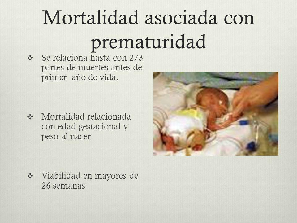 Mortalidad asociada con prematuridad