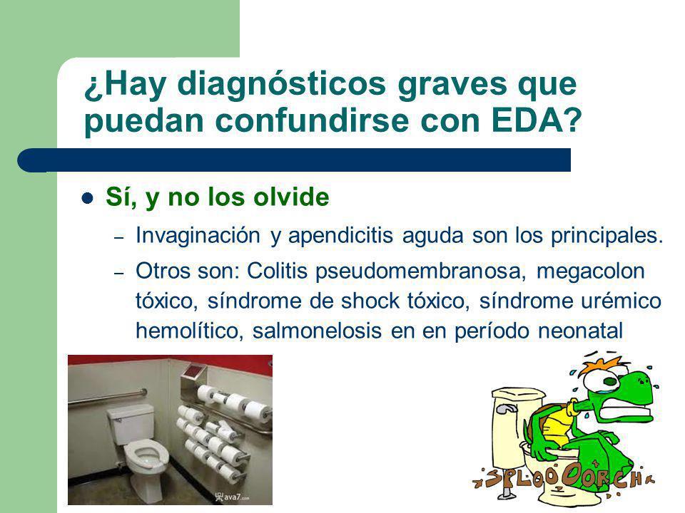¿Hay diagnósticos graves que puedan confundirse con EDA
