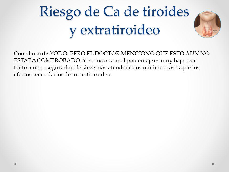 Riesgo de Ca de tiroides y extratiroideo