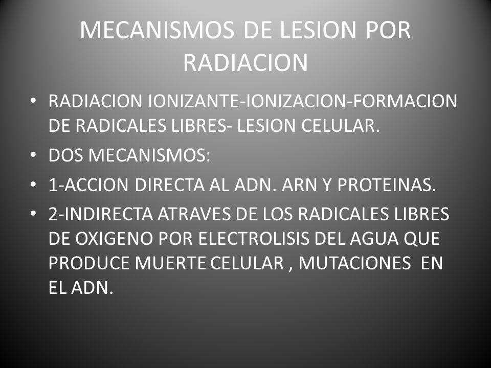 MECANISMOS DE LESION POR RADIACION