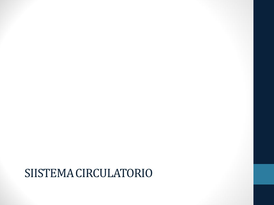 Siistema Circulatorio