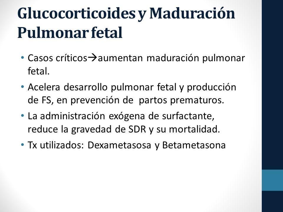 Glucocorticoides y Maduración Pulmonar fetal