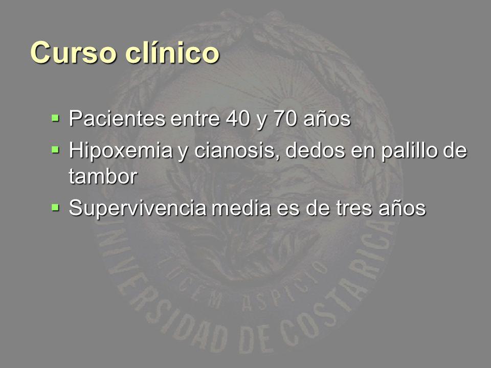 Curso clínico Pacientes entre 40 y 70 años