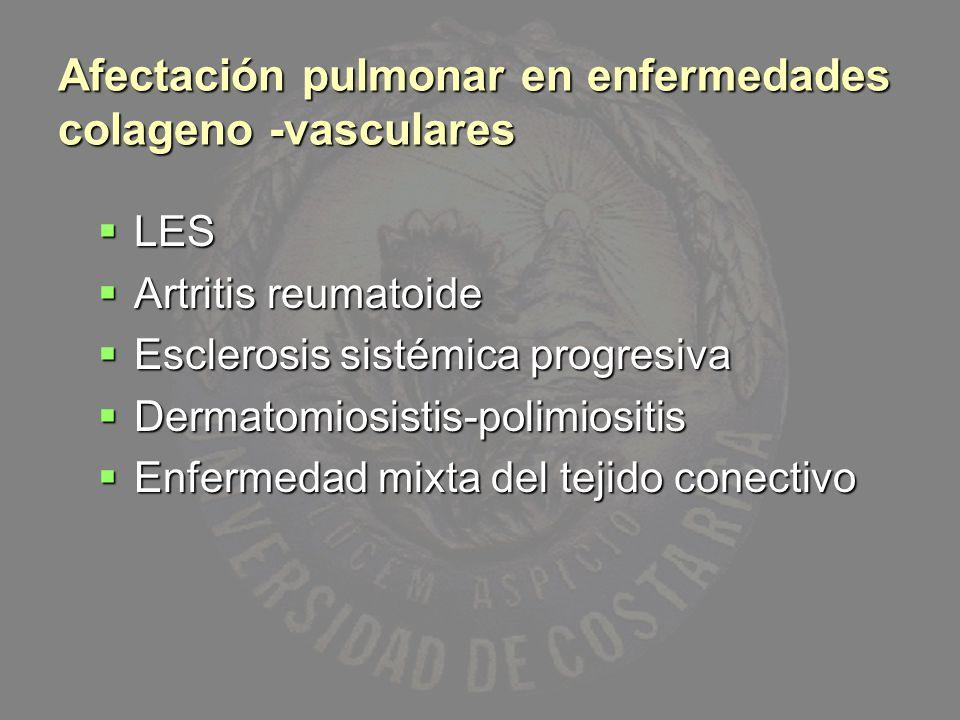 Afectación pulmonar en enfermedades colageno -vasculares