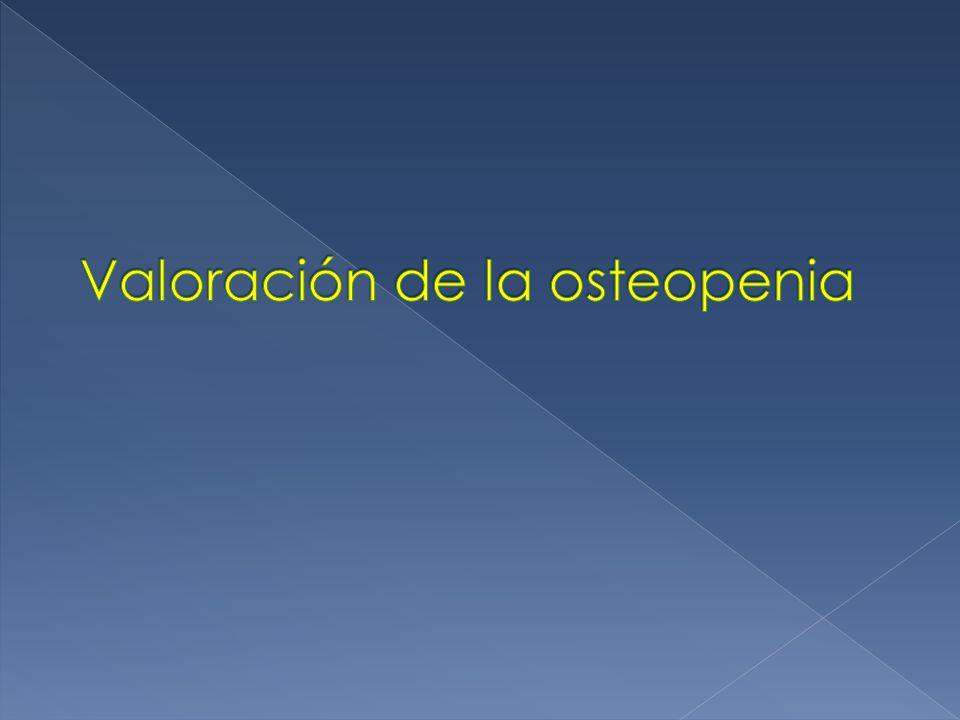 Valoración de la osteopenia