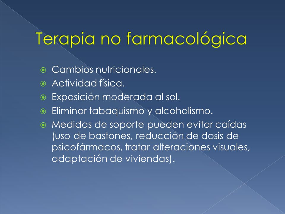 Terapia no farmacológica