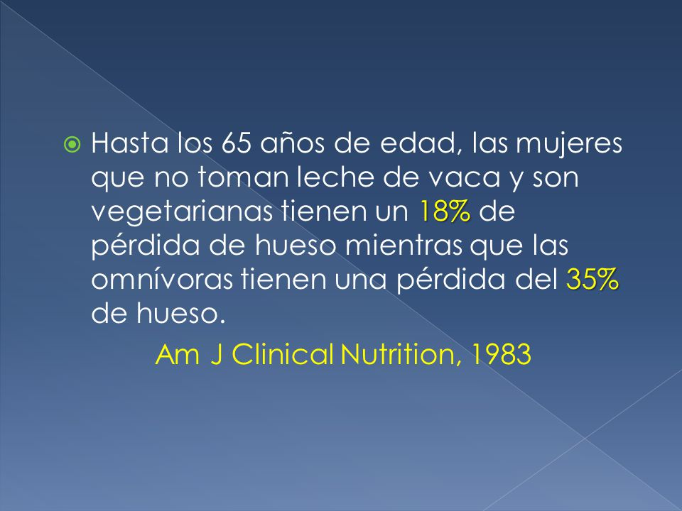 Am J Clinical Nutrition, 1983
