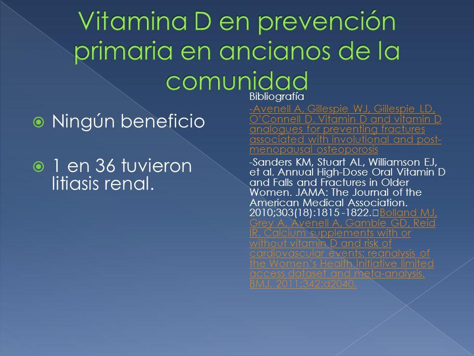 Vitamina D en prevención primaria en ancianos de la comunidad