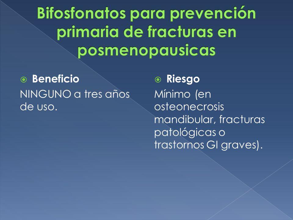 Bifosfonatos para prevención primaria de fracturas en posmenopausicas