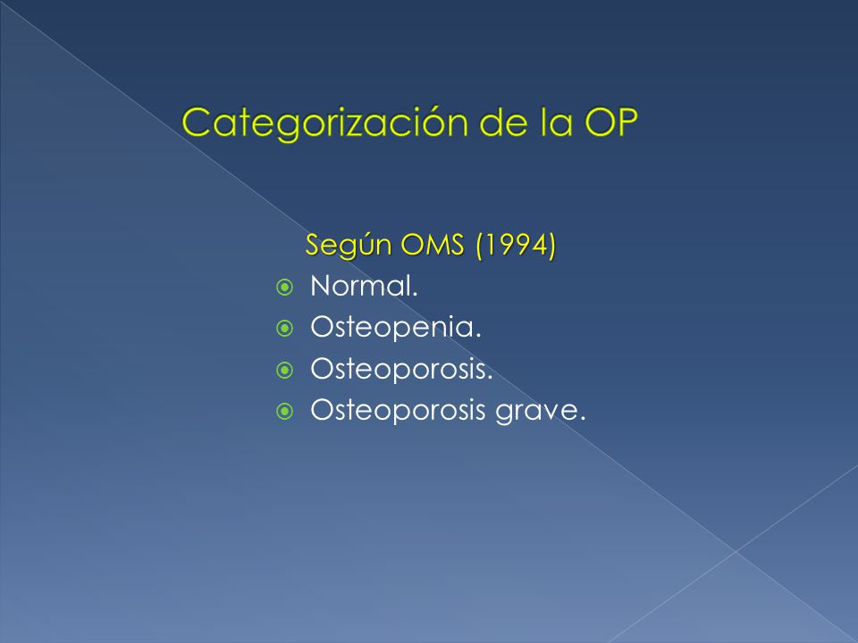 Categorización de la OP