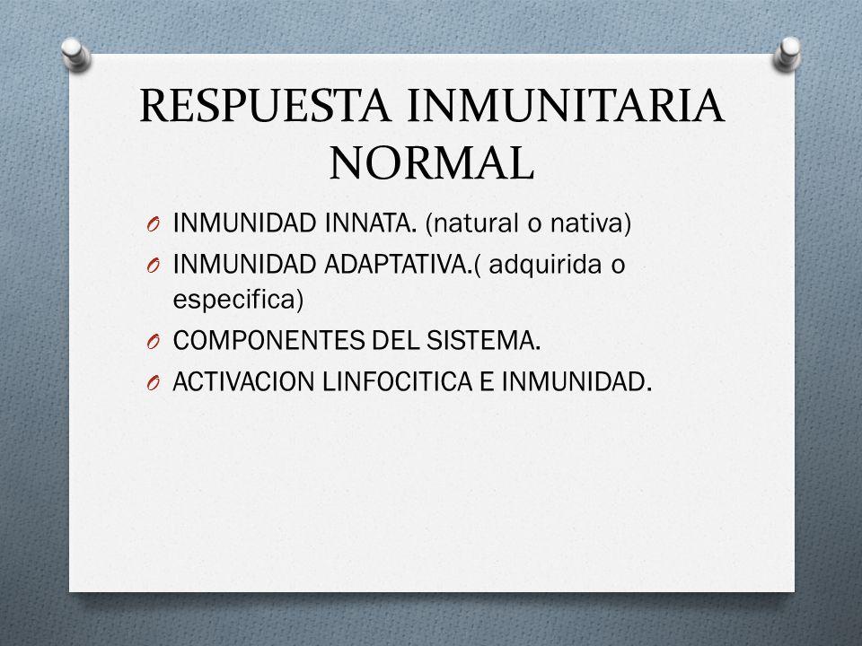 RESPUESTA INMUNITARIA NORMAL