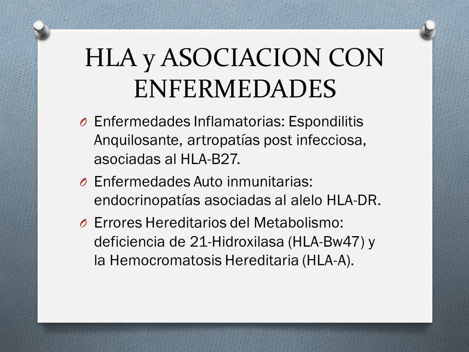 HLA y ASOCIACION CON ENFERMEDADES