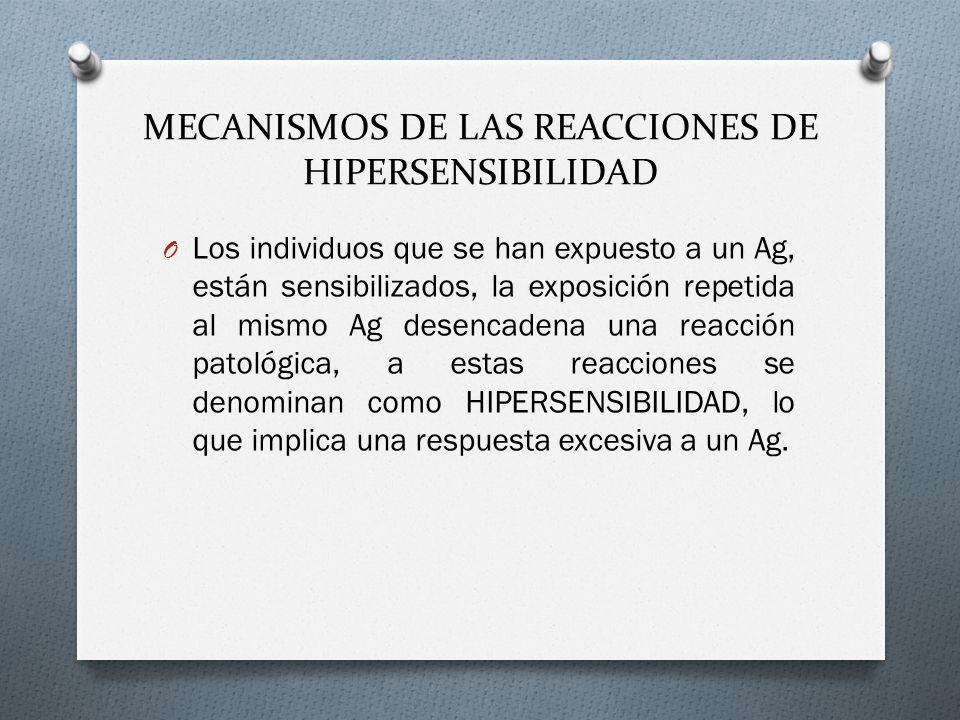 MECANISMOS DE LAS REACCIONES DE HIPERSENSIBILIDAD